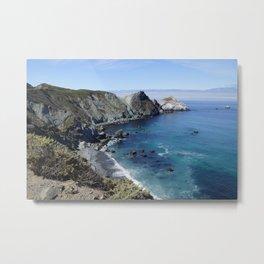 Rugged Seascape Metal Print