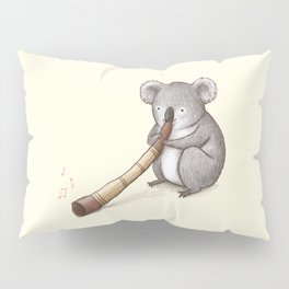 Koala Playing the Didgeridoo Pillow Sham