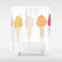 ice cream line II Shower Curtain