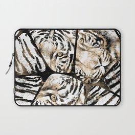 Tiger portrait composition on voronoi pattern Laptop Sleeve