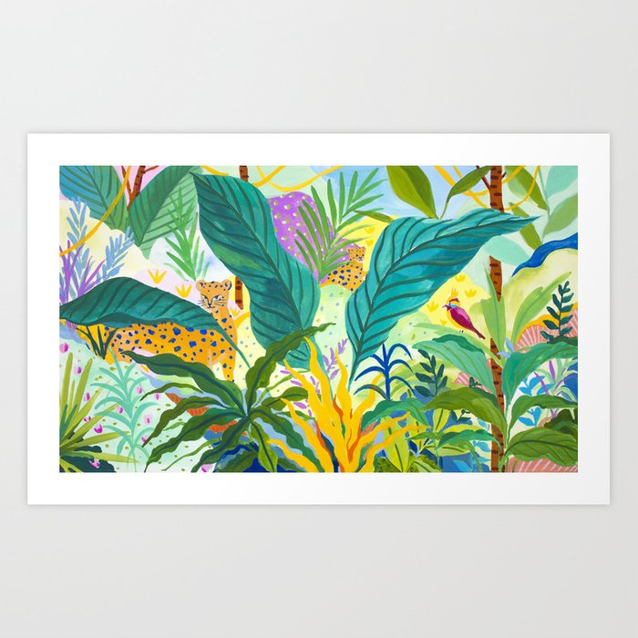 Paradise Jungle Art Print