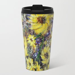 Misty Autumn Sunflowers Travel Mug