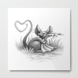 Valentine Mouse Metal Print
