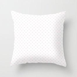 Light Soft Pastel Pink Mini Love hearts on White Throw Pillow