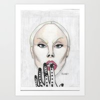 Sassy Goth Art Print