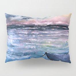 Coucher de soleil sur mer Pillow Sham