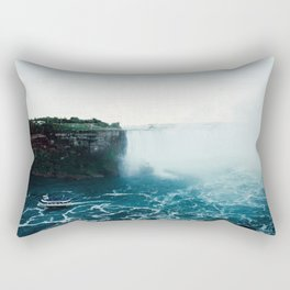 Boat beneath the falls Rectangular Pillow
