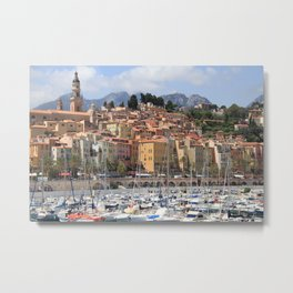 Colors of Menton France Metal Print