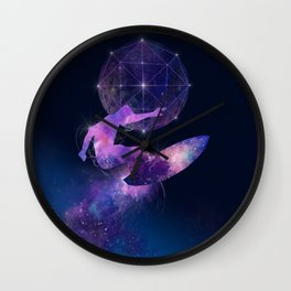 galaxy surfer Wall Clock