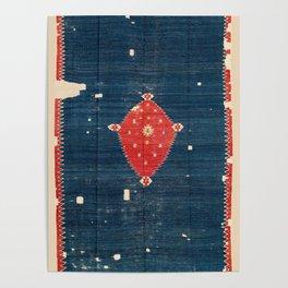 Balikesir  Antique Turkish Kilim Rug Print Poster