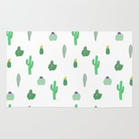 cacti Area & Throw Rugs featuring Cacti by Casie Tanksley