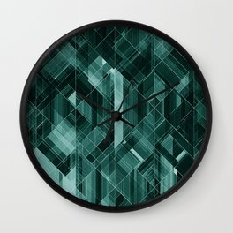Abstract green pattern Wall Clock