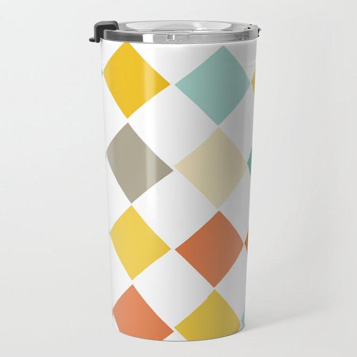Color Check Travel Mug