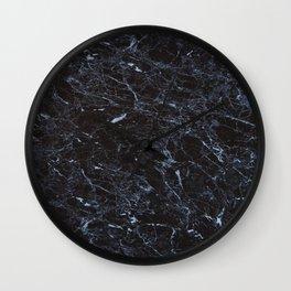 Dark blue Water Marble Wall Clock