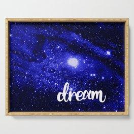 Blue Galaxy Dream Serving Tray
