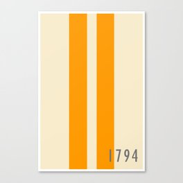 Orange and Stripes - The University of Tennessee  Canvas Print