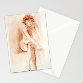 Portrait of woman Stationery Cards