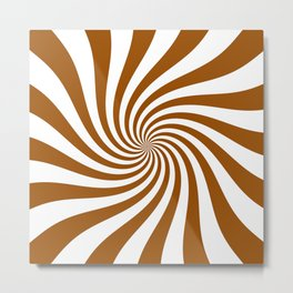 Swirl (Brown/White) Metal Print