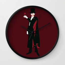 Tuxedo Mask (Red) Wall Clock
