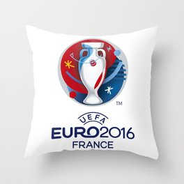 Logo Uefa Euro 2016 Throw Pillow
