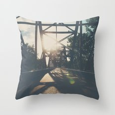 crossing the Mississippi ... Throw Pillow