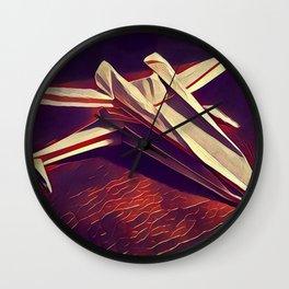 Space Fold - Warm Tones Wall Clock