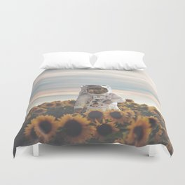 The Sunflower Galaxy, Messier 63 Duvet Cover