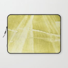 Yellow green abstract Laptop Sleeve