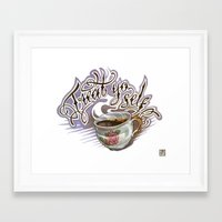 treat yo self Framed Art Prints featuring Treat Yo Self by Bokkei