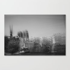 then finds me in black + white Canvas Print