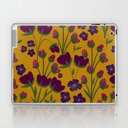 Purple and Gold Floral Seamless Illustration Laptop & iPad Skin