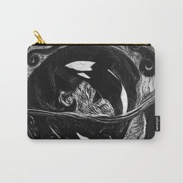 Orca Flow black-and-white Carry-All Pouch