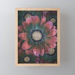 hippie flowers Framed Mini Art Print