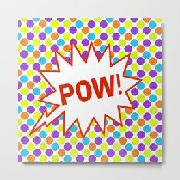 POW! Comic Book Inspired Polka Dot Metal Print
