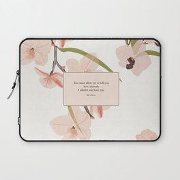 You must allow me...Mr. Darcy. Pride and Prejudice. Laptop Sleeve