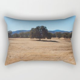 Fall Field Photography Print Rectangular Pillow