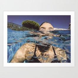 La nageuse Art Print