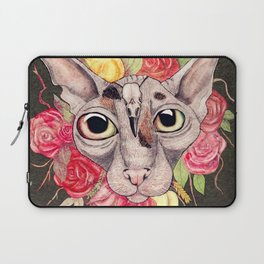 Kitty's Pretty Floral Mane (colour) Laptop Sleeve