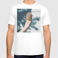Cone A Day Challenge #1 MEDIUM Mens Fitted Tee White