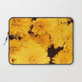 Bright Golden Holiday Mums Laptop Sleeve