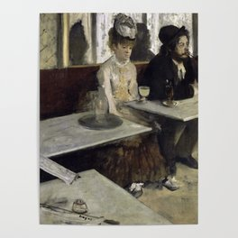 The Absinthe Drinker by Edgar Degas Poster