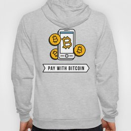 Pay With Bitcoin (Mobile Payments) Icon Hoody