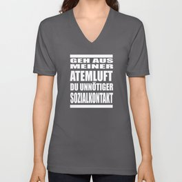 Get Out Of My Breath Without Unnecessary Social Unisex V-Neck