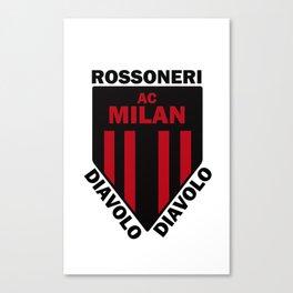 Slogan Milan Canvas Print