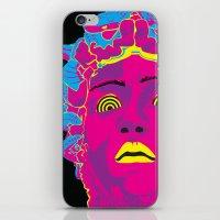 medusa iPhone & iPod Skins featuring Medusa by Mario Sayavedra