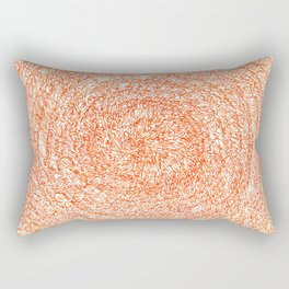 An Orange Wishes, asemic calligraphy for home and office decoration Rectangular Pillow