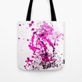 Magenta Madness - Abstract Splatter Style Tote Bag