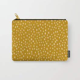 Mustard Paint Drops Carry-All Pouch