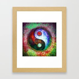 Yin Yang - Colorful Painting III Framed Art Print