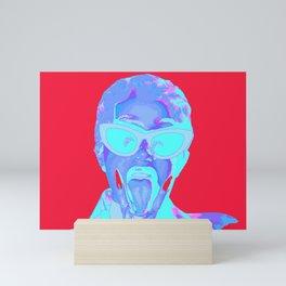cardi b red Mini Art Print